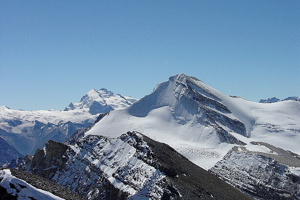 Monte Rosa (4634m) and Brunegghorn (3833m)