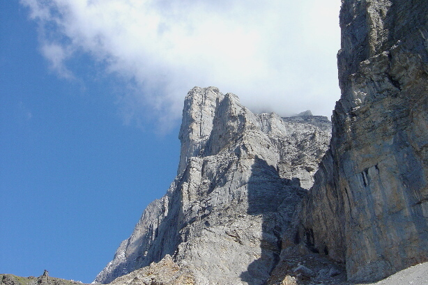 At the beginning of the Eiger Trail