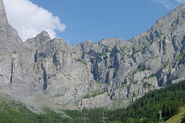 View from Leukerbad to the Gemmi pass