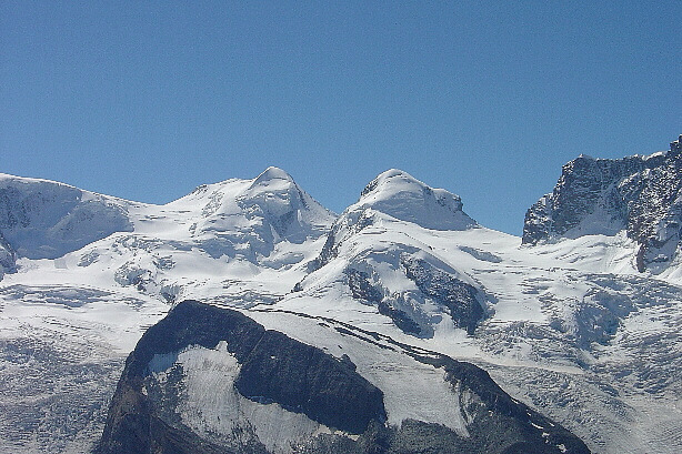 Castor (4228m) and Pollux (4092m)