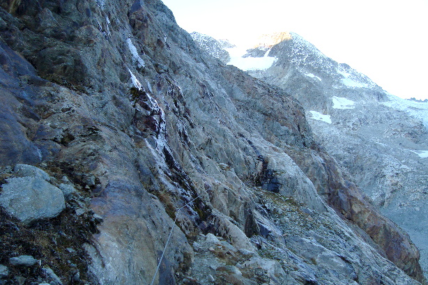 The start of the vi ferrata