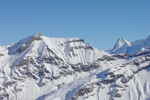 Hundshorn (2929m) and Eiger (3970m)