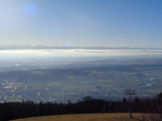 Sea of fog and alps from Weissenstein